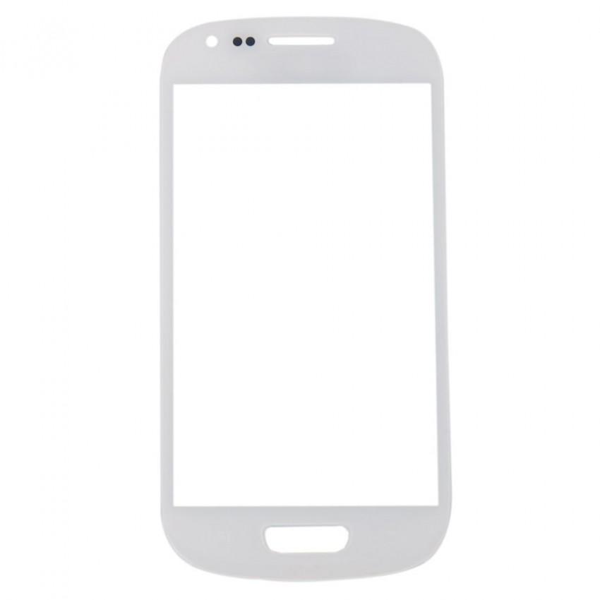 LCD stikliukas Samsung i8190 S3 mini baltas