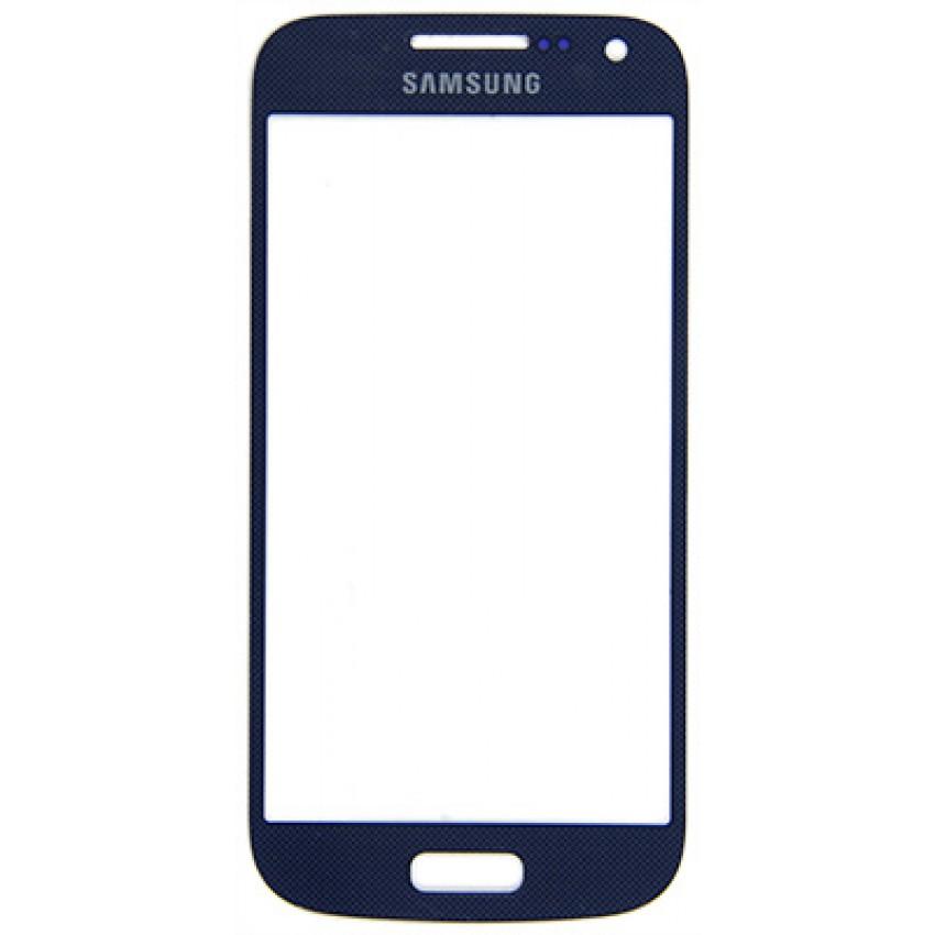 LCD stikliukas Samsung i9190/i9195 S4 mini mėlynas