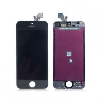 Ekranas iPhone 5 su lietimui jautriu stikliuku juodas HQ
