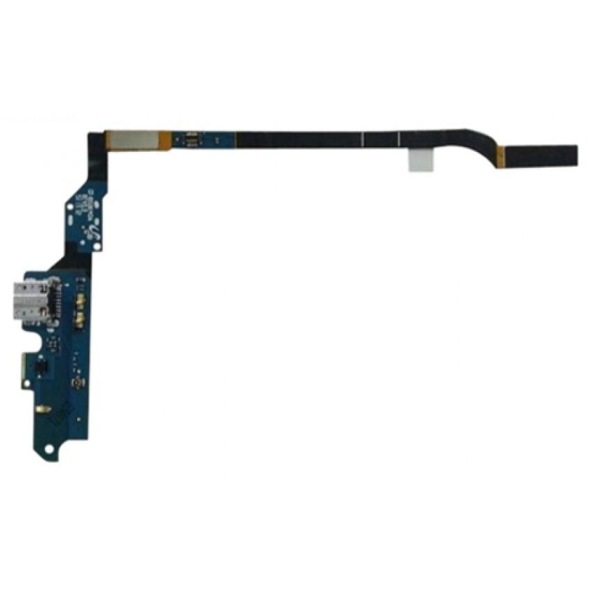 Lanksčioji jungtis Samsung i9500/i9505 S4 su įkrovimo kontaktu ir mikrofonu naudota ORG