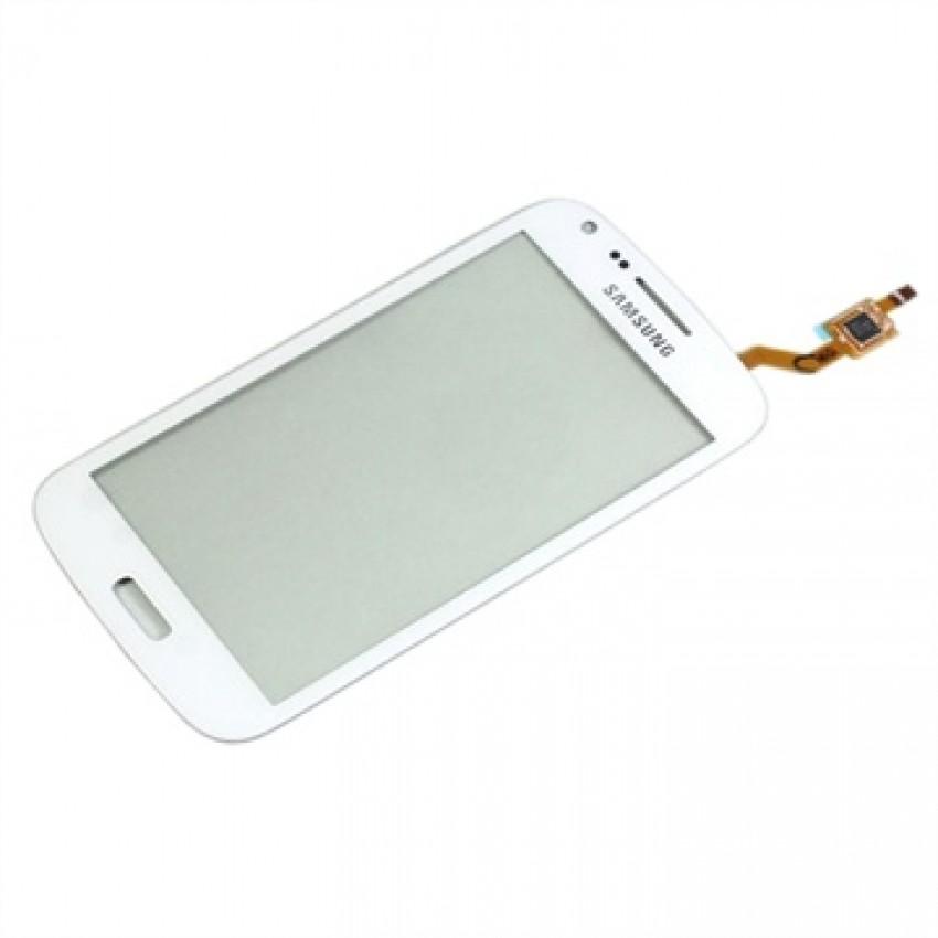 """Lietimui jautrus stikliukas Samsung i8262/i8260 Core Duos/Core (su """"Duos"""" ženklu) baltas HQ"""