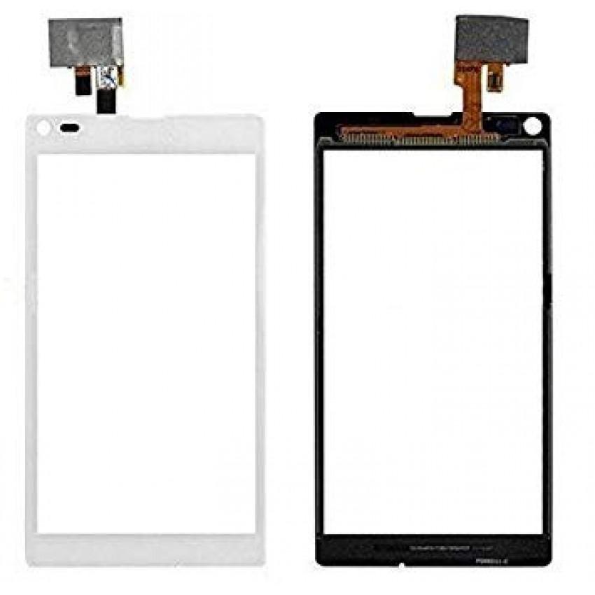 Lietimui jautrus stikliukas Sony S36h/C2105/C2104 Xperia L baltas HQ