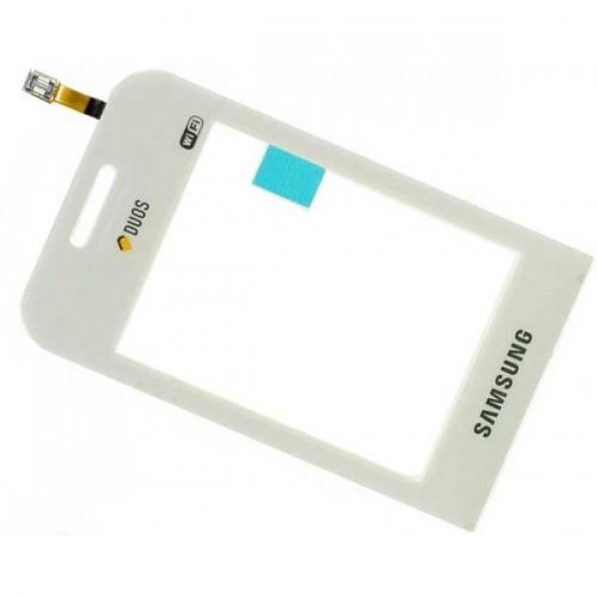Lietimui jautrus stikliukas Samsung E2652 Champ Duos baltas