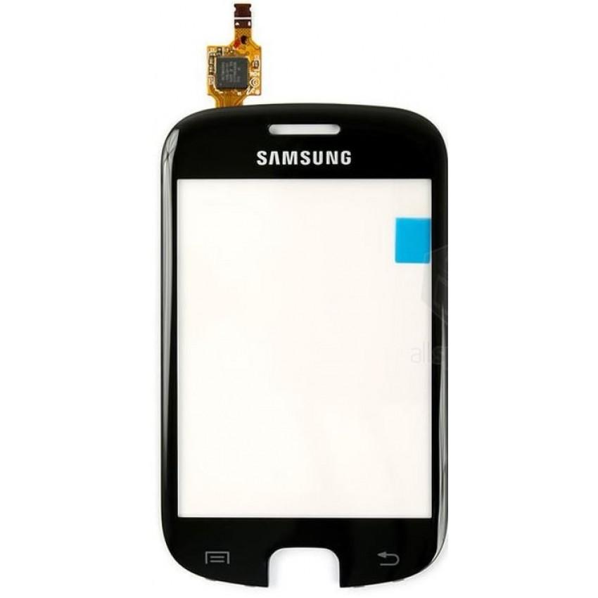 Lietimui jautrus stikliukas Samsung S5670 Fit juodas HQ