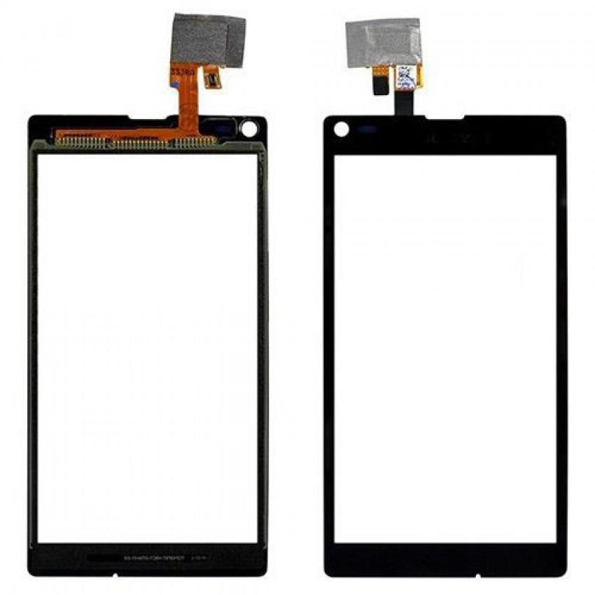 Lietimui jautrus stikliukas Sony S36h/C2105/C2104 Xperia L juodas HQ