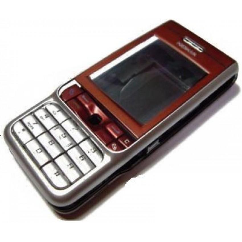 Korpusas Nokia 3230 juodas/raudonas