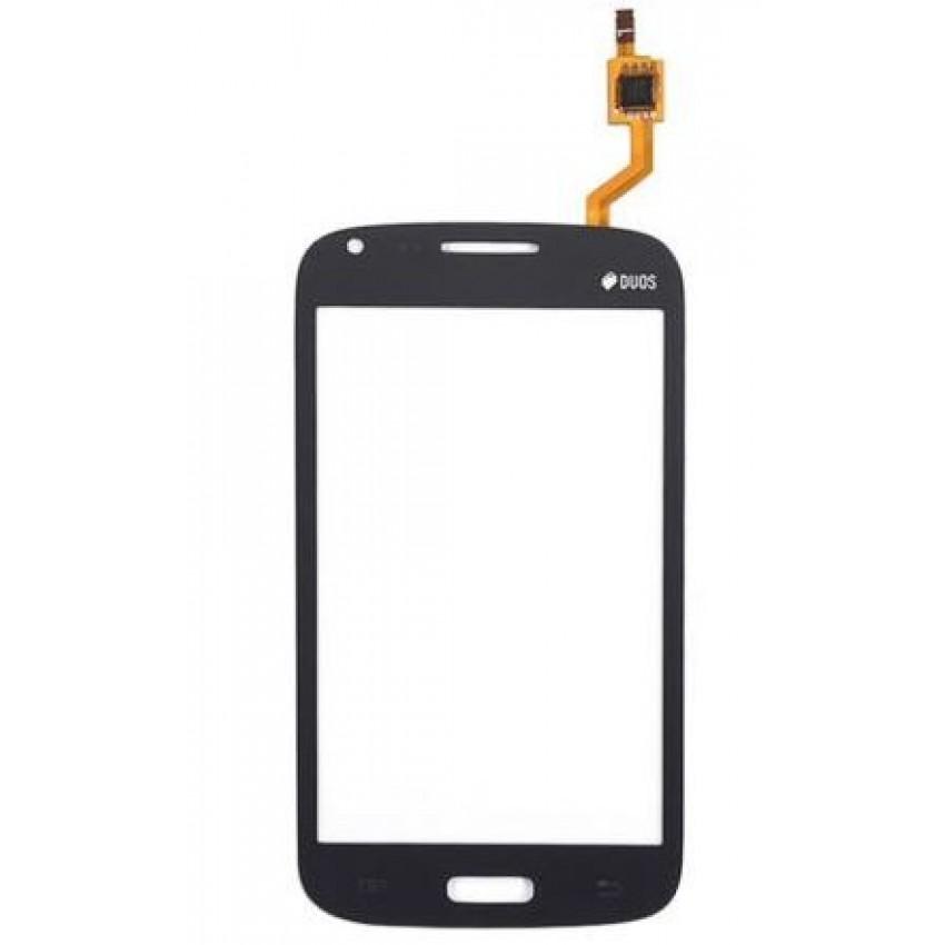 """Lietimui jautrus stikliukas Samsung i8262/i8260 Core Duos/Core (su """"Duos"""" ženklu) juodas HQ"""