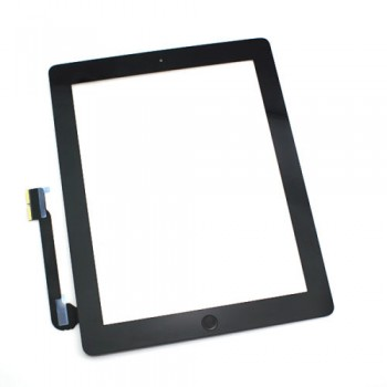 Touch screen iPad 4 black with Home button and holders HQ