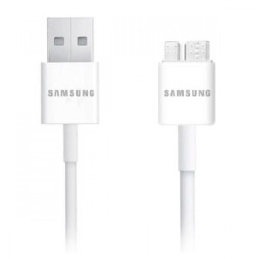 USB kabelis ORG Samsung N9005/N7200 Note 3 microUSB (ET-DQ10Y0WE) baltas (1M)