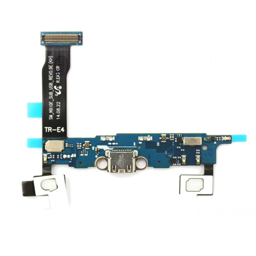 Lanksčioji jungtis Samsung N910F Note 4 su įkrovimo kontaktu, funkciniais mygtukais ir mikrofonu naudota ORG