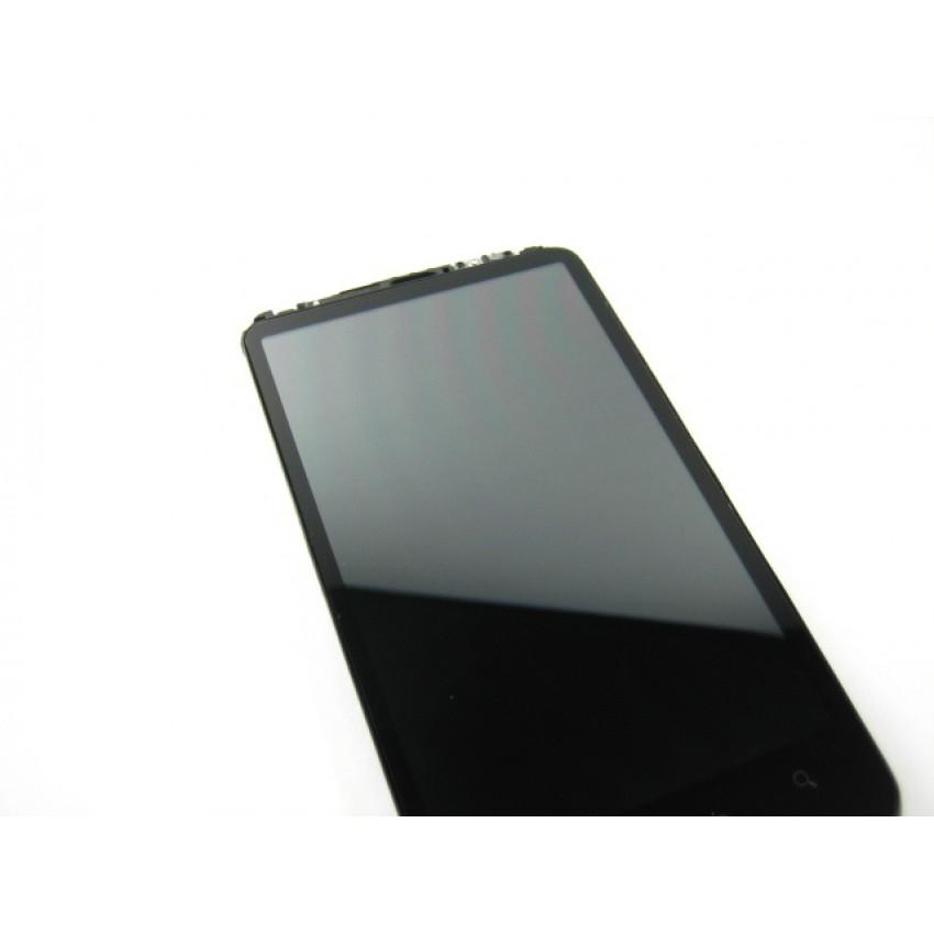 Ekranas HTC Desire HD/G10 su lietimui jautriu stikliuku ir rėmeliu HQ