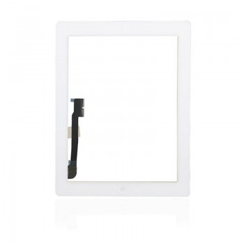Touch screen iPad 4 white with Home button and holders HQ