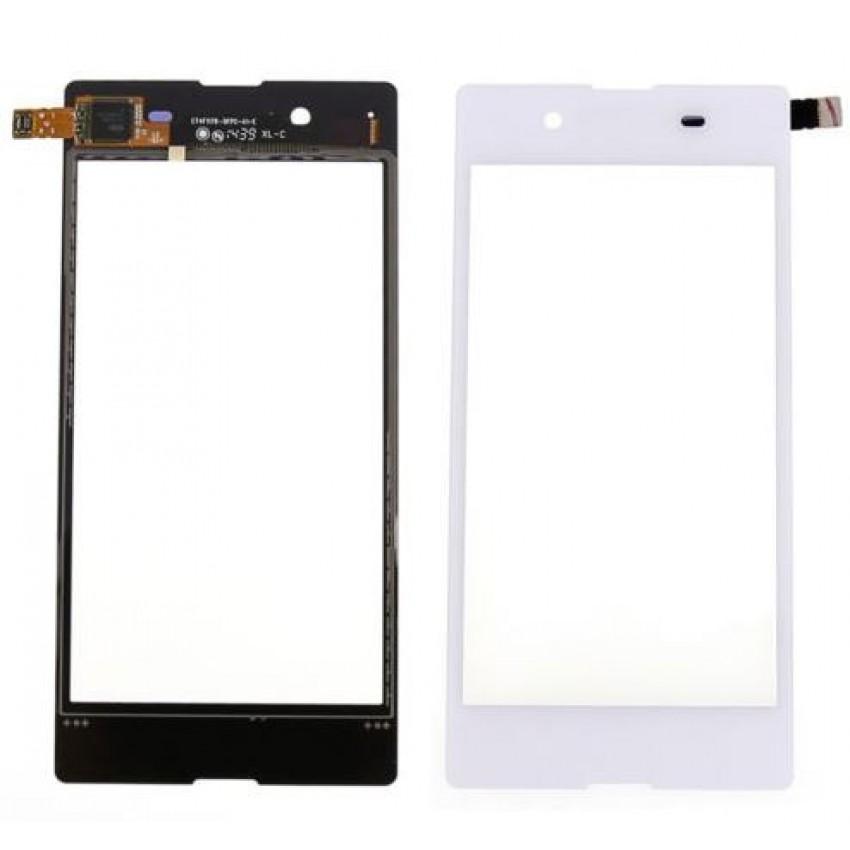 Lietimui jautrus stikliukas Sony D2203/D2206 Xperia E3 baltas