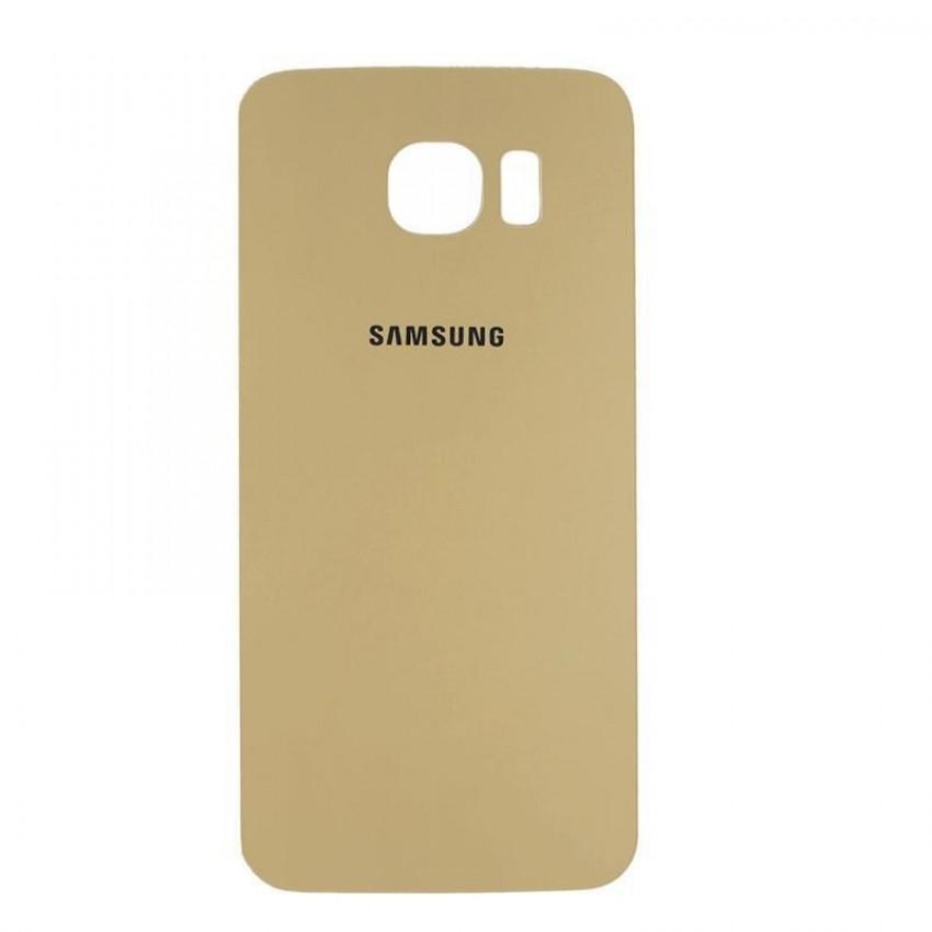 Galinis dangtelis Samsung G920F S6 auksinis HQ