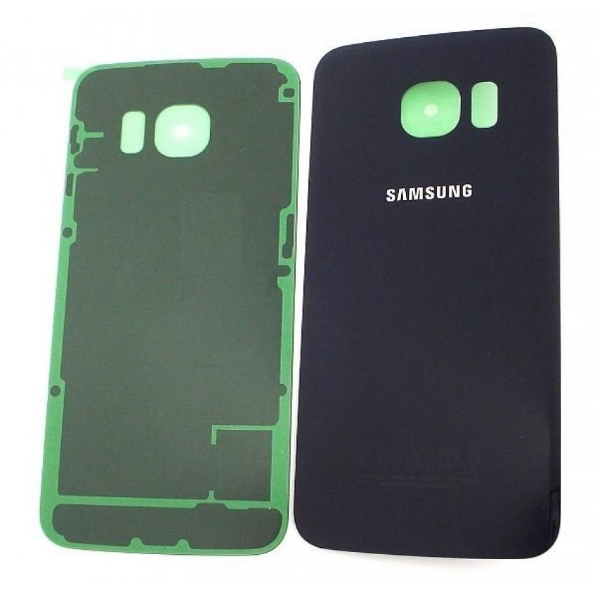Galinis dangtelis Samsung G925F S6 Edge mėlynas (juodas) HQ