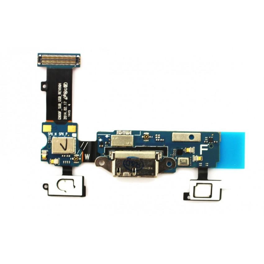 Lanksčioji jungtis Samsung G900F S5 su įkrovimo kontaktu ir mikrofonu naudota ORG