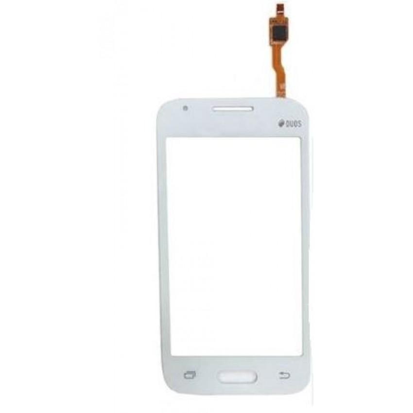 """Lietimui jautrus stikliukas Samsung G318 Trend 2 Lite baltas (su """"Duos"""" ženklu) HQ"""