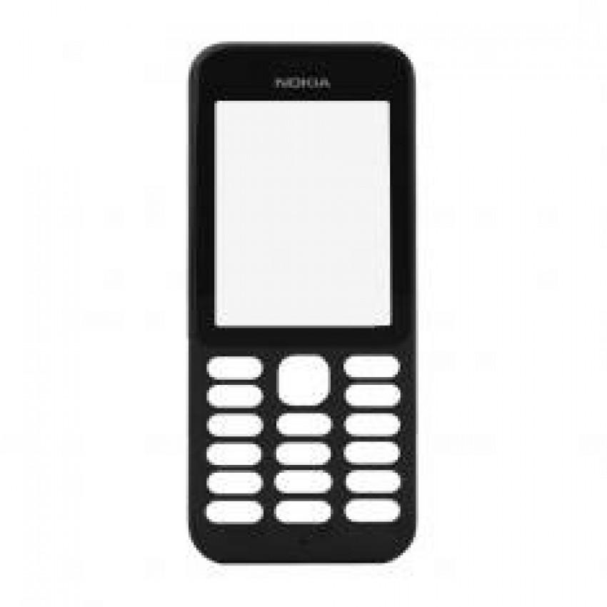 Korpusas Nokia 222 priekinis juodas HQ