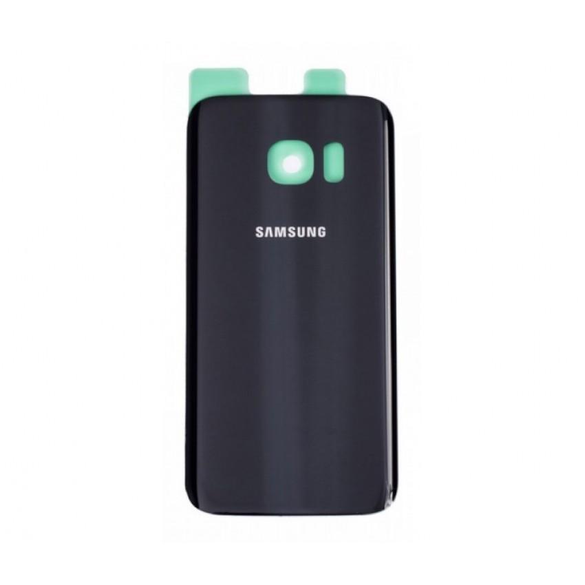 Galinis dangtelis Samsung G930F S7 juodas HQ