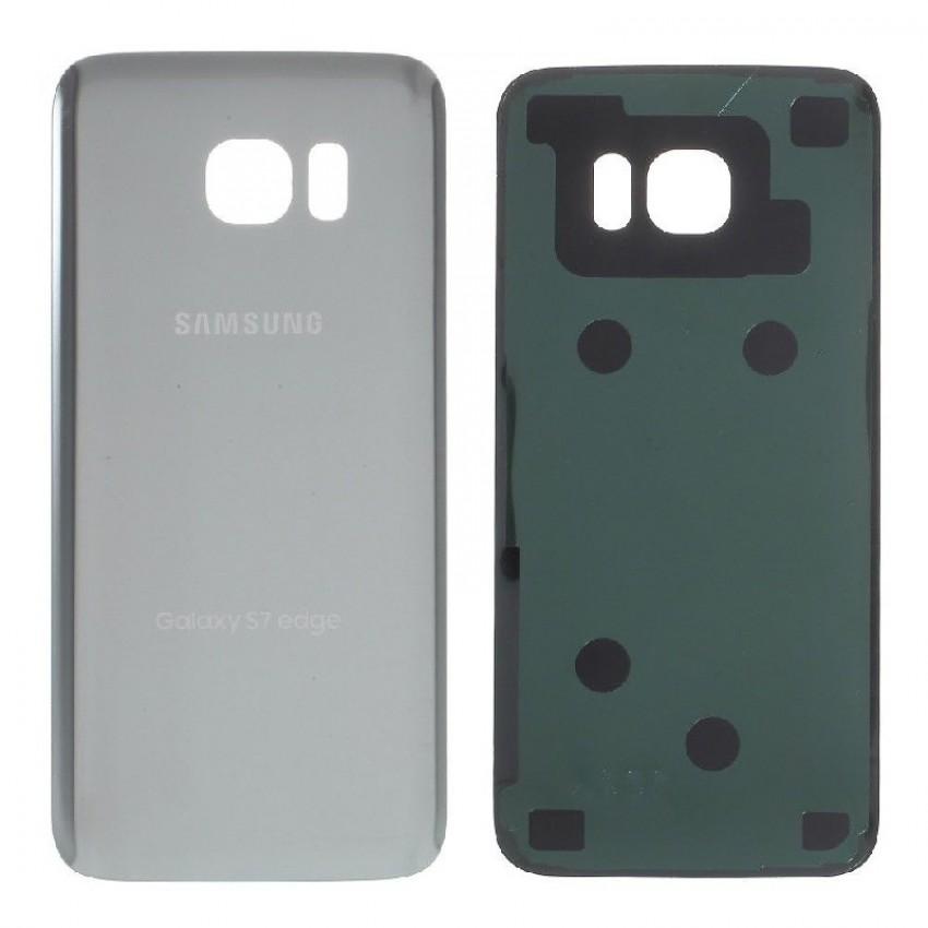 Galinis dangtelis Samsung G935F S7 Edge sidabrinis HQ