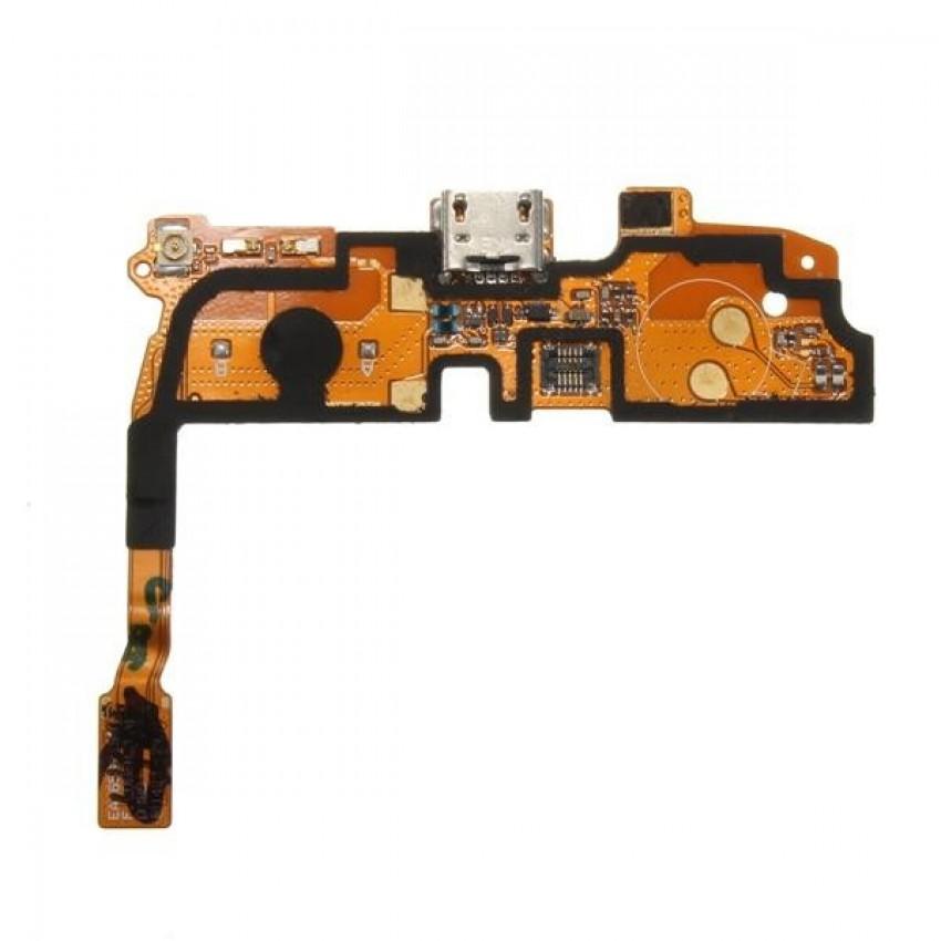Lanksčioji jungtis LG D405 L90 su įkrovimo kontaktu ir mikrofonu HQ