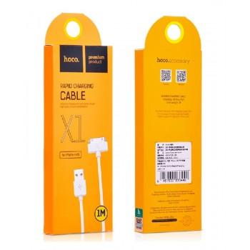 USB kabelis HOCO X1 Rapid iPhone 3G/3GS/4G/4S/iPod/iPad 1m baltas