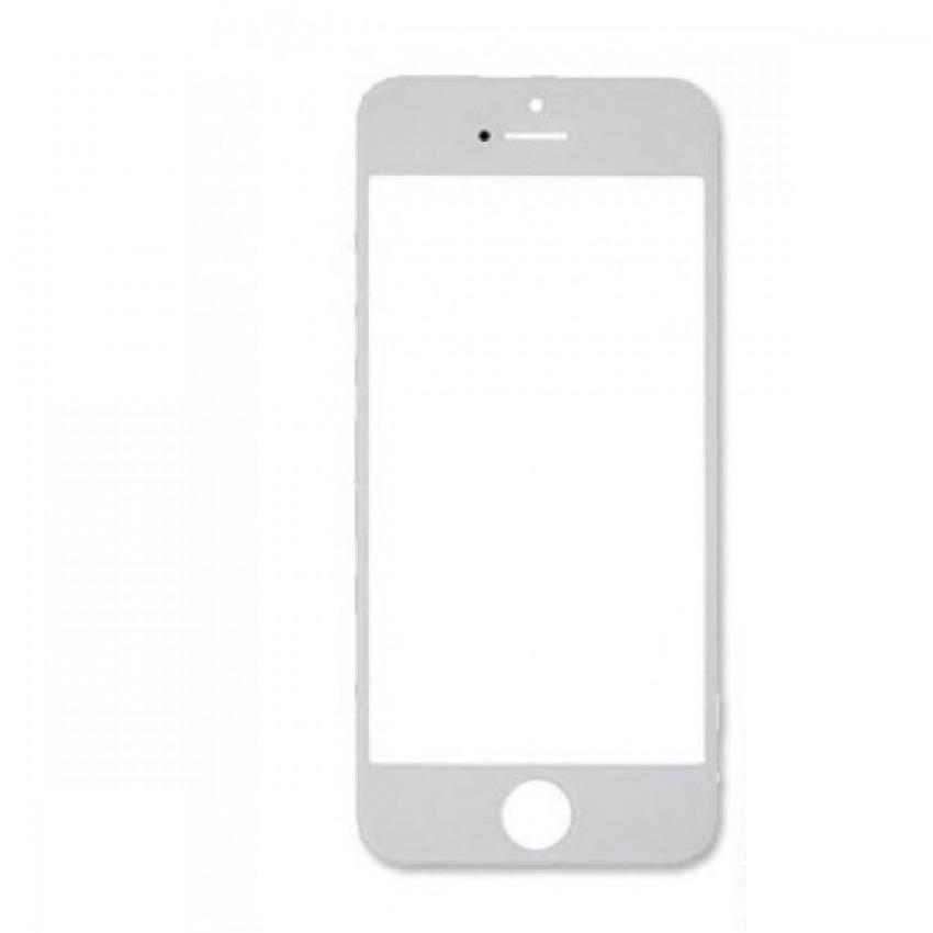 LCD stikliukas Apple iPhone 5 su rėmeliu ir OCA + poliarizuota baltas ORG
