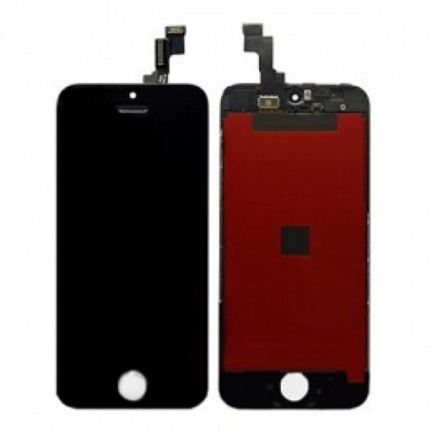 Ekranas iPhone SE/5S su lietimui jautriu stikliuku juodas (Refurbished) ORG