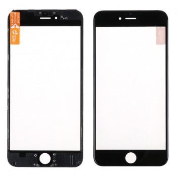 LCD stikliukas Apple iPhone 6 Plus su rėmeliu juodas ORG