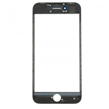 LCD stikliukas Apple iPhone 8 Plus su rėmeliu juodas ORG