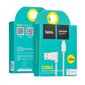 "USB cable HOCO UPL11 L Shape ""lightning"" 1,2m white"