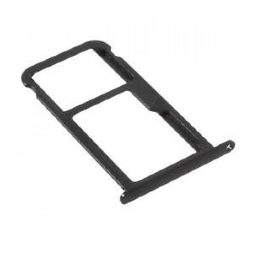 SIM card holder Huawei P10 Lite black ORG