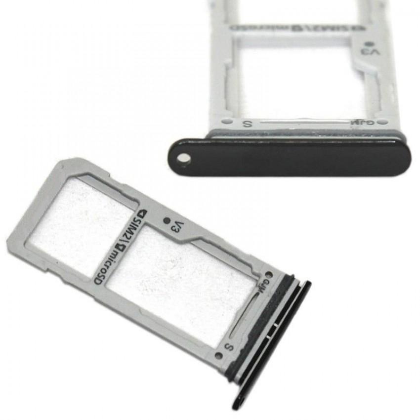SIM card holder Samsung G960/G965 S9 Duos /S9+ Duos black ORG