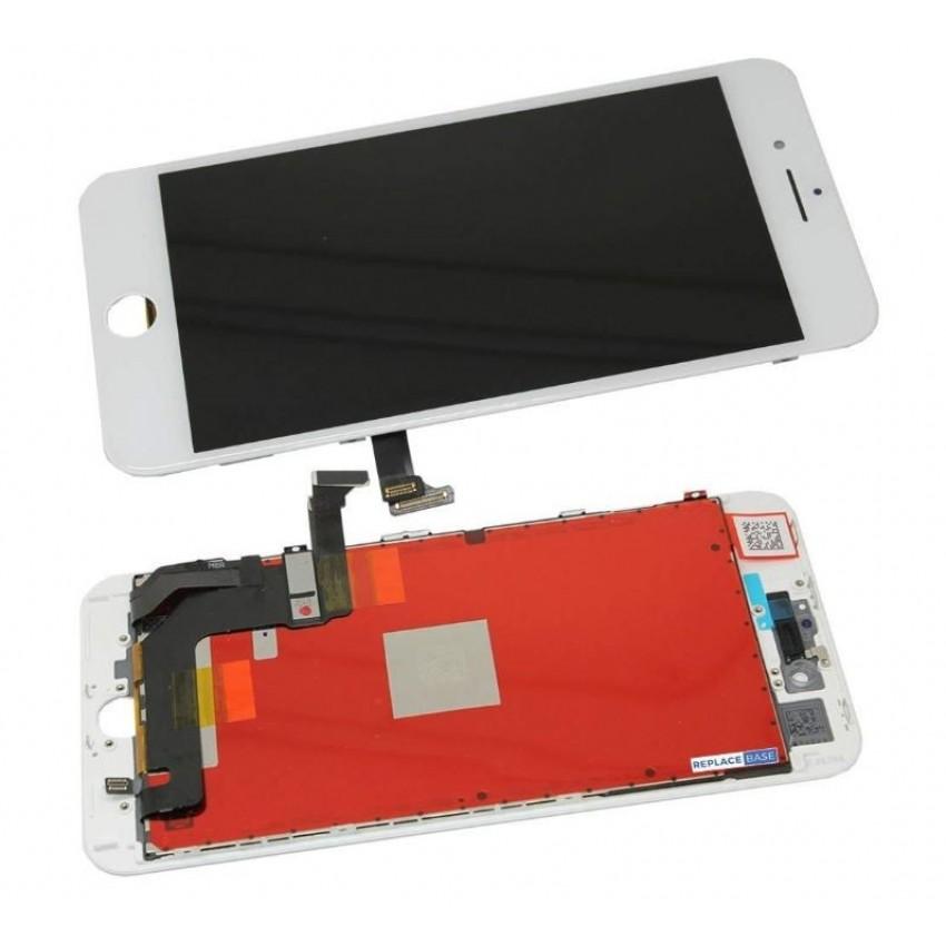 Ekranas iPhone 8 Plus su lietimui jautriu stikliuku baltas (Refurbished) ORG
