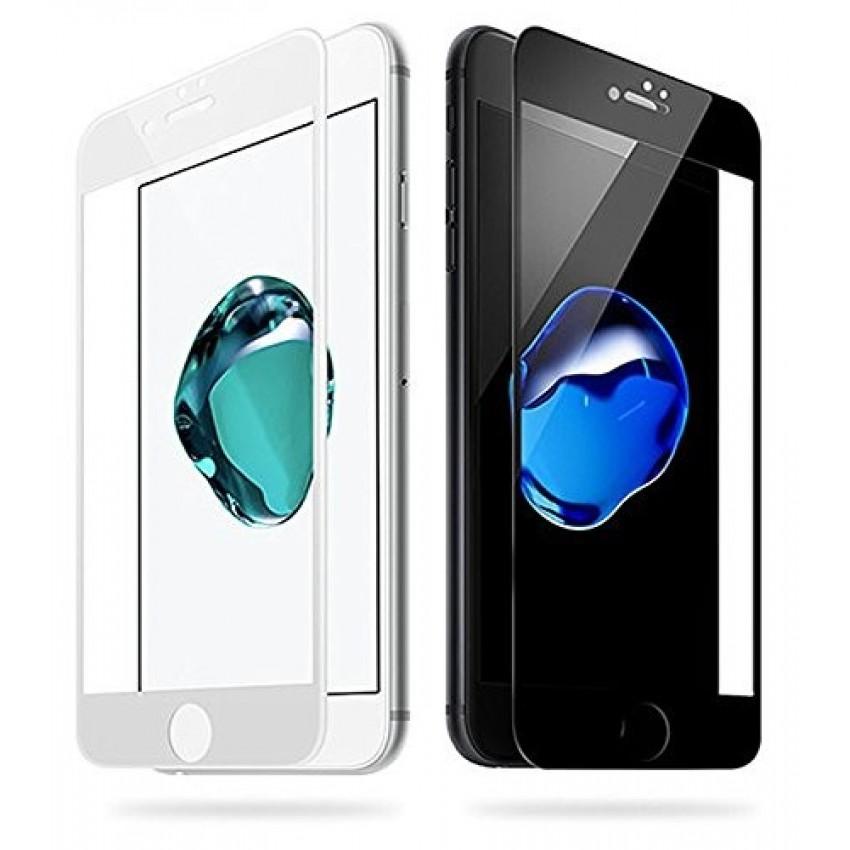 """LCD apsauginis stikliukas """"5D Full Glue"""" Apple iPhone 7/8 lenktas baltas be įpakavimo"""