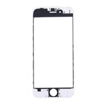 LCD stikliukas Apple iPhone 6 su rėmeliu ir OCA baltas ORG (v2)