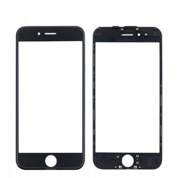LCD stikliukas Apple iPhone 6 su rėmeliu ir OCA juodas ORG (v2)