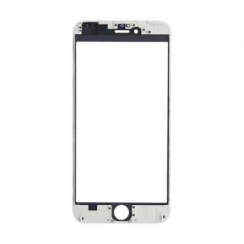 LCD stikliukas Apple iPhone 6 Plus su rėmeliu ir OCA baltas ORG (v2)