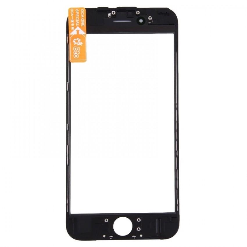 LCD stikliukas Apple iPhone 6S su rėmeliu ir OCA juodas ORG (v2)