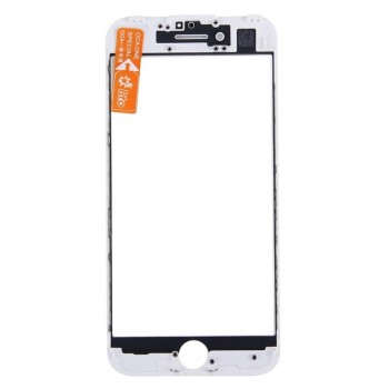 LCD screen glass Apple iPhone 7 with frame and OCA white ORG (v2)