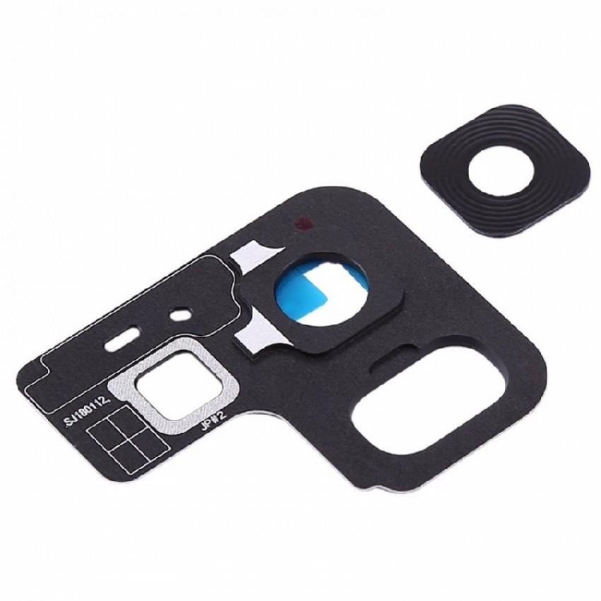 Samsung A530 A8 2018 kameros stikliukas juodas ORG