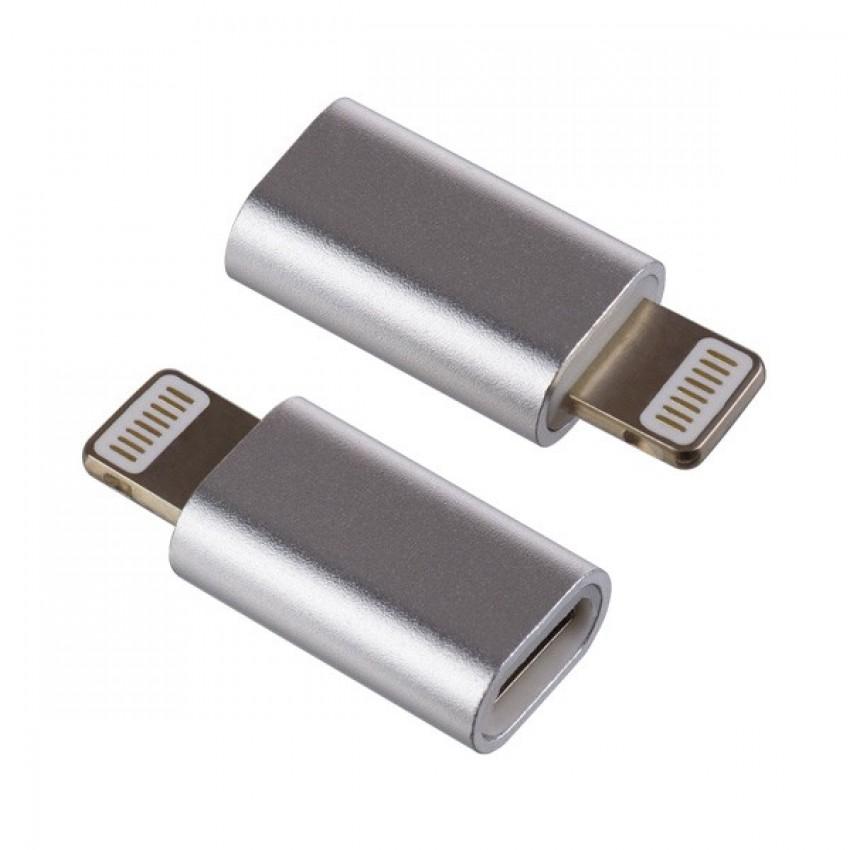 Adapteris iš Apple Lightning į Type-C aliuminis