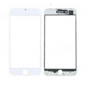 LCD stikliukas Apple iPhone 8 Plus su rėmeliu ir OCA baltas ORG (v2)