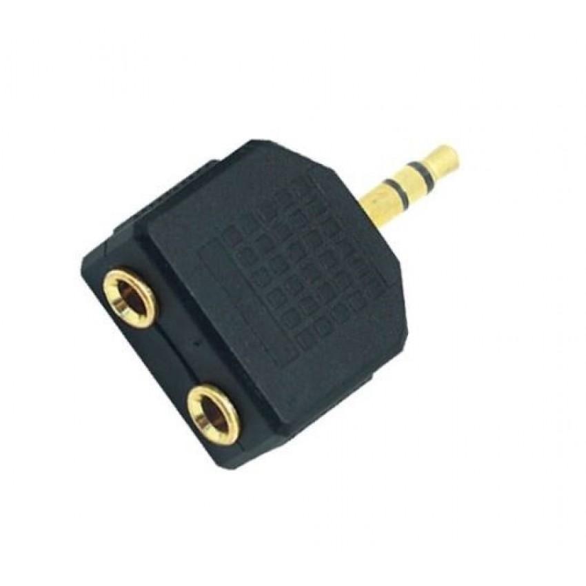 Audio šakotuvas iš 3,5mm į 2x3,5mm