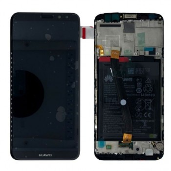 LCD screen Huawei Mate 10 Lite with touch screen with frame and battery black original (service pack)
