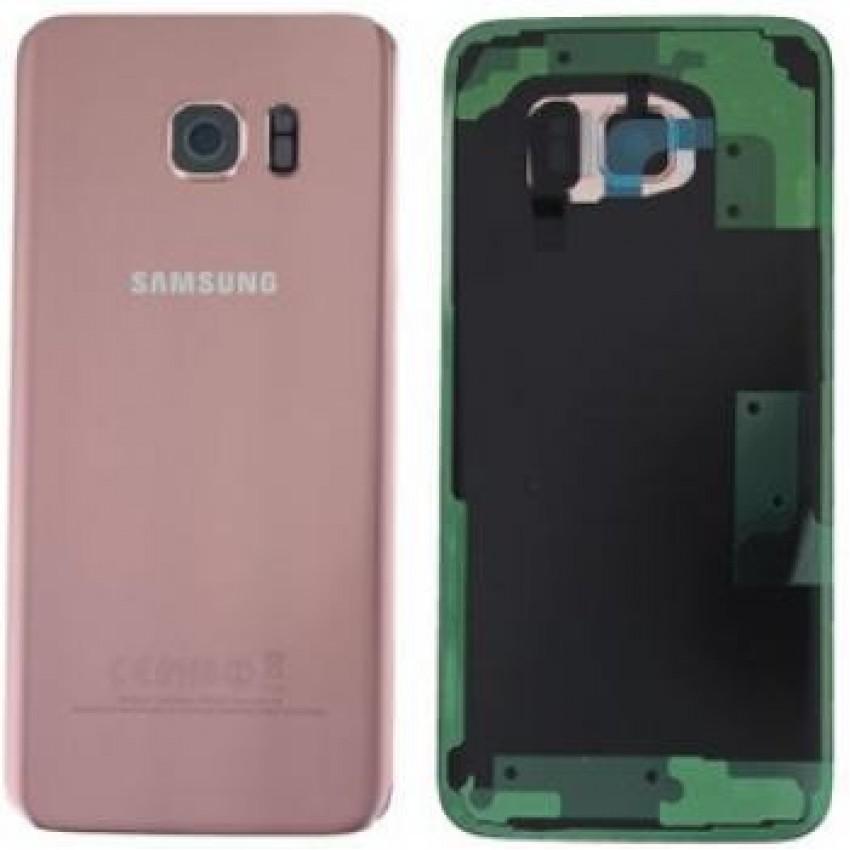 Galinis dangtelis Samsung G935F S7 Edge rožinis (rose pink) originalus (used Grade B)