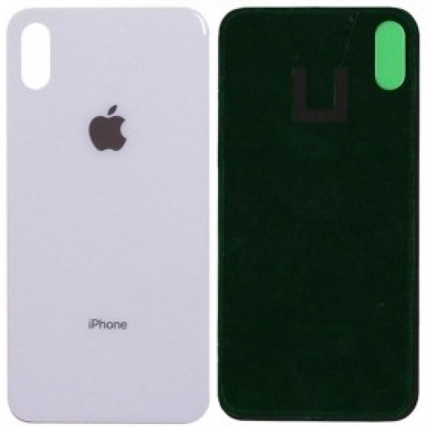 Galinis dangtelis iPhone XS Max sidabrinis (baltas) HQ