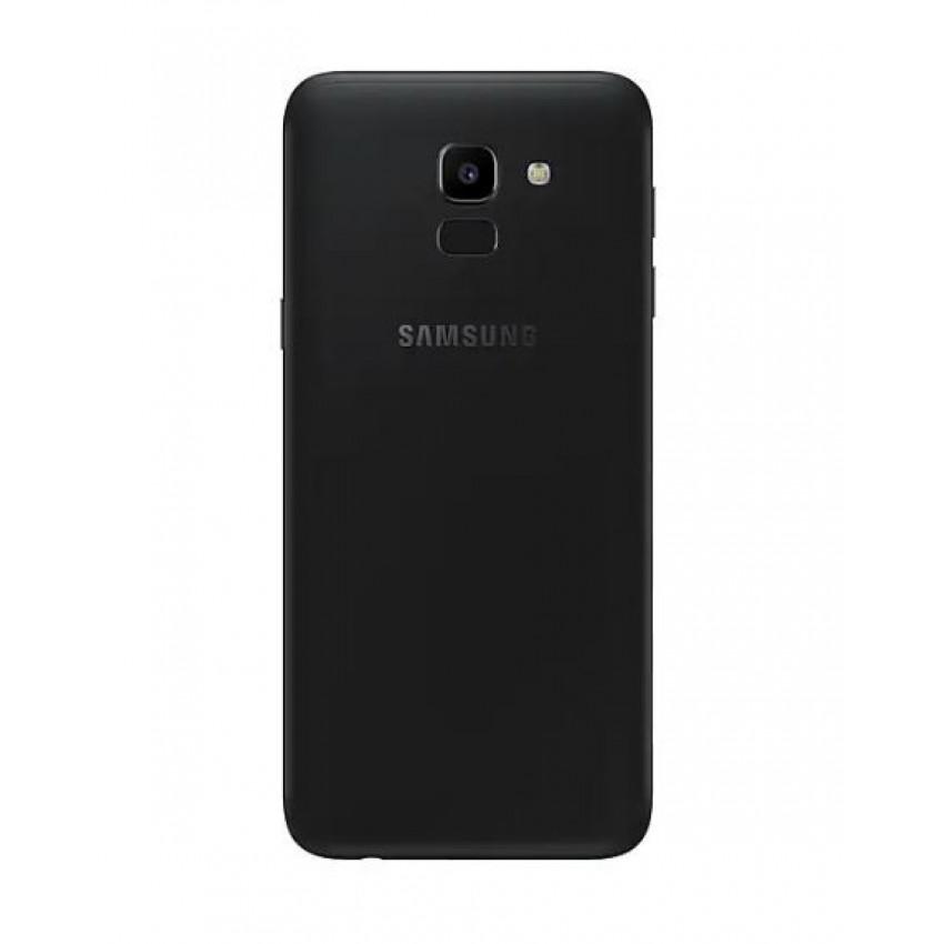 Galinis dangtelis Samsung J600 J6 2018 juodas ORG