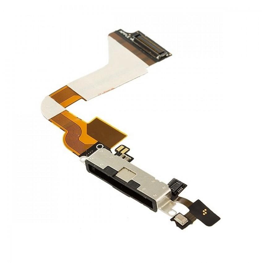 Lanksčioji jungtis Apple iPhone 4S įkrovimo kontakto juoda ORG