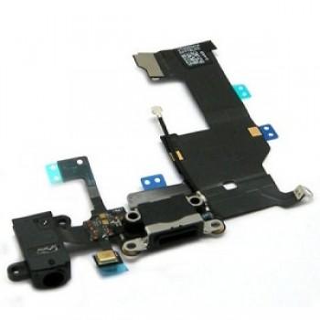 Lanksčioji jungtis Apple iPhone 5G audio ir įkrovimo kontaktų juoda ORG
